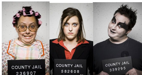 photo of 3 complete bozos in a county jail