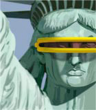 Statue of Liberty with visor sunglasses